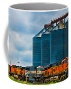 Grain Silos And Bnsf Train Coffee Mug