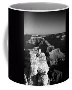 Grand Canyon Black And White Coffee Mug