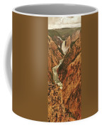 Grand Canyon Of The Yellowstone Vertical Panorama Coffee Mug