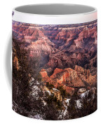 Grand Canyon Winter Sunrise Landscape At Yaki Point Coffee Mug
