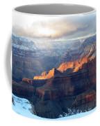 Grand Canyon With Snow Coffee Mug