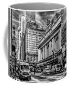 Grand Central At 42nd St - Mono Coffee Mug