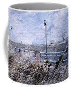 Grand Haven Channel With Winter Waves  Coffee Mug