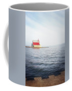 Grand Haven Lighthouse From North Pier Coffee Mug