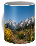 Grand Teton Arrow Leaf Balsamroot Coffee Mug by Brian Harig