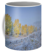 Grand Teton Fall Snowfall Scene Coffee Mug by Scott McGuire