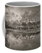 Grand Teton Monochromatic Panoramic Coffee Mug by Scott McGuire