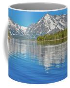 Grand Teton Mountain Reflection On Jackson Lake Coffee Mug