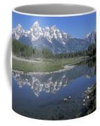 Grand Teton Reflection At Schwabacher Landing Coffee Mug