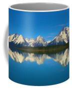 Grand Teton Reflection Wood Texture Coffee Mug