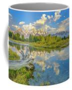 Grand Teton Riverside Morning Reflection Coffee Mug