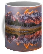 Grand Teton Snake River Sunrise Reflections Coffee Mug