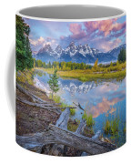 Grand Teton Sunrise Reflection Coffee Mug by Scott McGuire