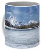 Grand Tetons And Snake River From Oxbow Bend 16-9 Coffee Mug