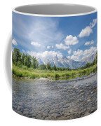 Grand Tetons On A Sunny Day Coffee Mug by Margaret Pitcher