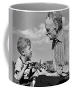 Grandfather And Boy With Model Plane Coffee Mug