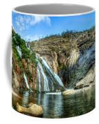 Granite Mountain Waterfall Panorama Coffee Mug