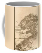Grape Arbor On Brown Coffee Mug
