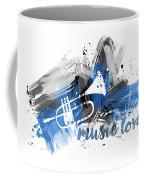 Graphic Art Music Lover - Blue Coffee Mug
