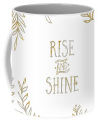Graphic Art Rise And Shine - Gold And Marble Coffee Mug