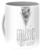 Graphic Art Silver Music On - World Off Coffee Mug