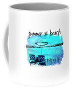 Graphic Art Summer And Beach Coffee Mug