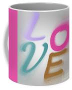 Graphic Display Of The Word Love  Coffee Mug