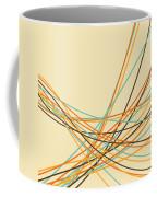 Graphic Line Pattern Coffee Mug by Setsiri Silapasuwanchai