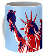 Graphic Statue Of Liberty Red White Blue Coffee Mug