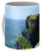 Grass Growing Along The Cliff's Of Moher In Ireland Coffee Mug