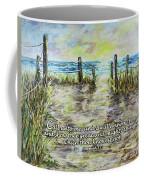 Grassy Beach Post Morning 2 Jeremiah 33 Coffee Mug