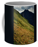 Grassy Before The Top Of The Rocky Hill Coffee Mug
