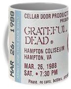 Grateful Dead Ticket - Hampton Coliseum Coffee Mug