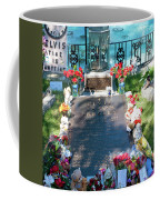 Grave Site At Graceland The Home Of Elvis Presley, Memphis, Tennessee Coffee Mug