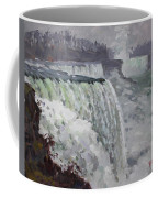 Gray And Cold At American Falls Coffee Mug