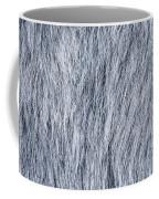 Gray Fake Fur Horizontal Coffee Mug
