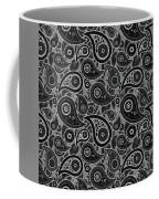 Gray Paisley Design Coffee Mug