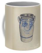 Gray Pottery Jar Coffee Mug
