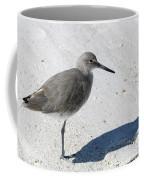 Gray Sandpiper On White Beach Coffee Mug