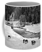 Grazing Bw Coffee Mug