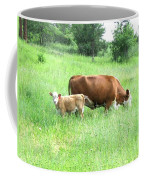 Grazing Cow And Calf Coffee Mug