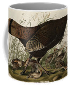 Great American Hen And Young Coffee Mug by John James Audubon