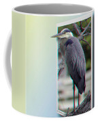 Great Blue Heron - Red-cyan 3d Glasses Required Coffee Mug