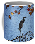 Great Blue Heron At Shores Of King's Mountain Point Coffee Mug