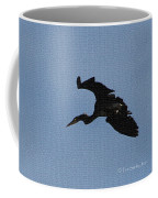 Great Blue Heron At The Gilbert Riparian Preserve Coffee Mug