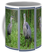 Great Blue Heron Collage Coffee Mug