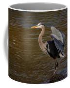 Great Blue Heron - Flooded Creek Coffee Mug