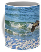 Great Blue Heron In Flight Coffee Mug