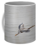 Great Blue Heron In Flight Coffee Mug