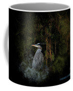 Great Blue Heron On The River Coffee Mug